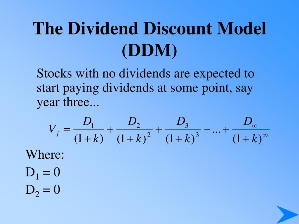 The Dividend Discount Model (DDM)