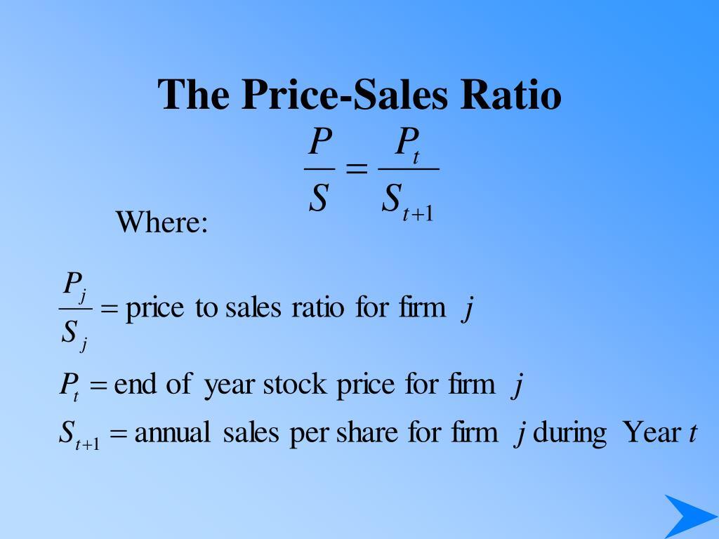 The Price-Sales Ratio