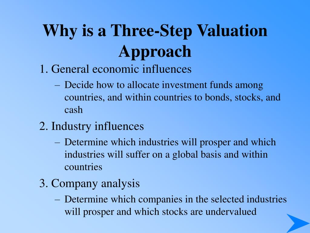 Why is a Three-Step Valuation Approach