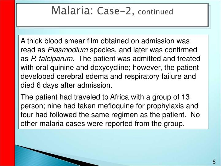 Malaria: