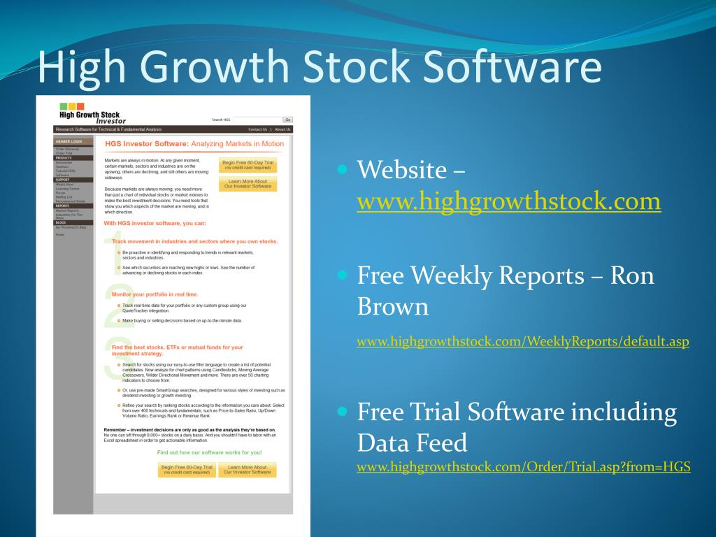 High Growth Stock Software
