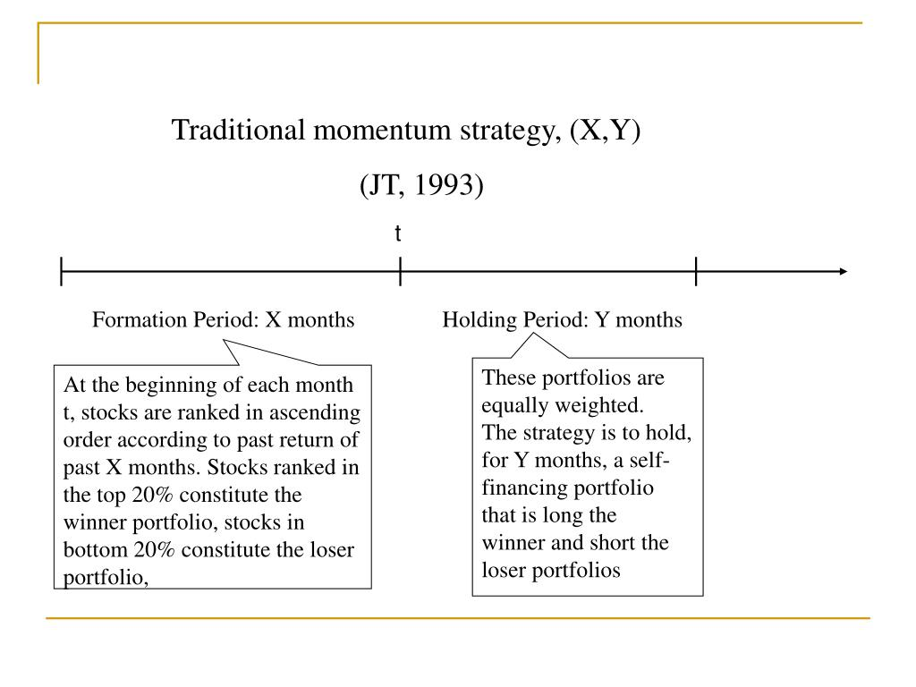 Traditional momentum strategy, (X,Y)