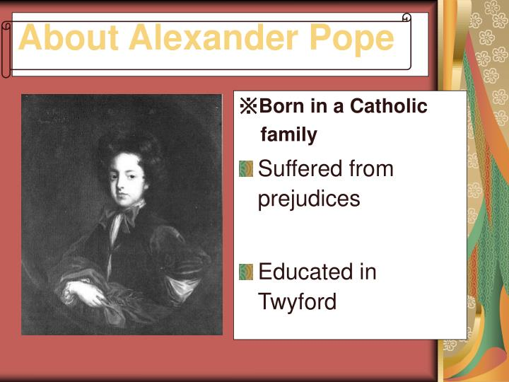 About Alexander Pope