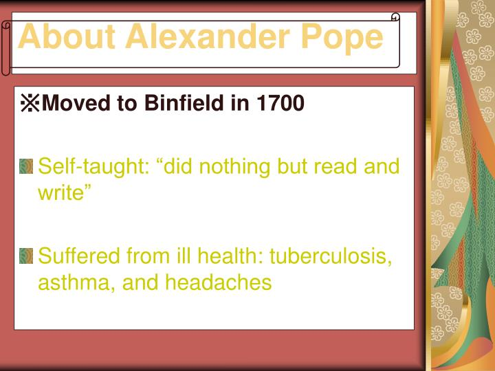 About alexander pope1