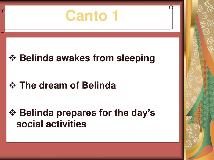 Belinda awakes from sleeping