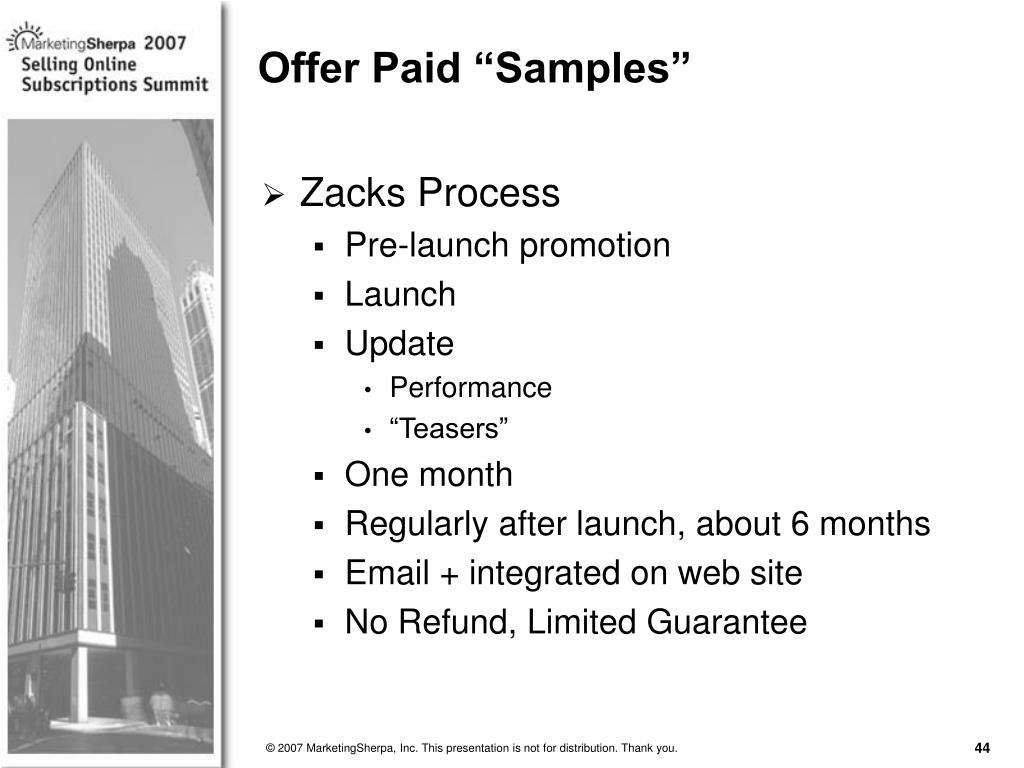 "Offer Paid ""Samples"""