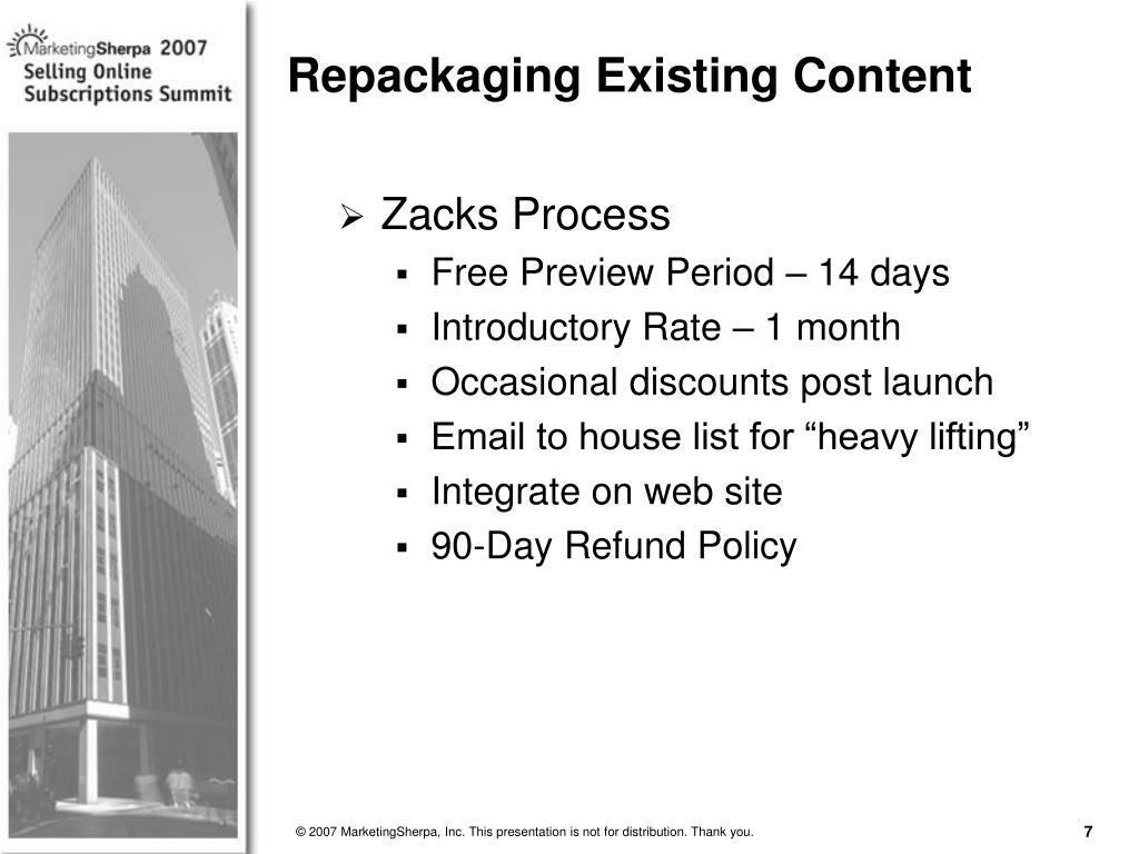 Zacks Process