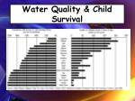 water quality child survival