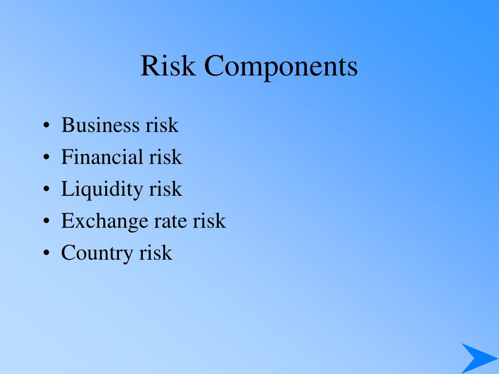 Risk Components