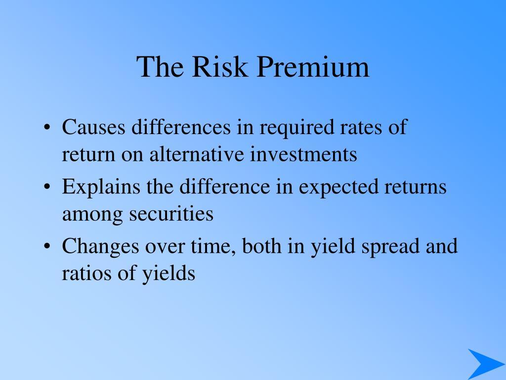 The Risk Premium