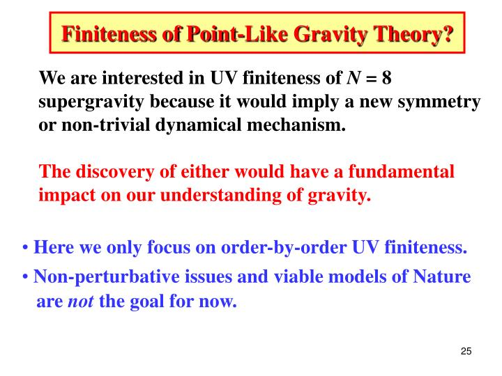 Finiteness of Point-Like Gravity Theory?