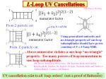 l loop uv cancellations