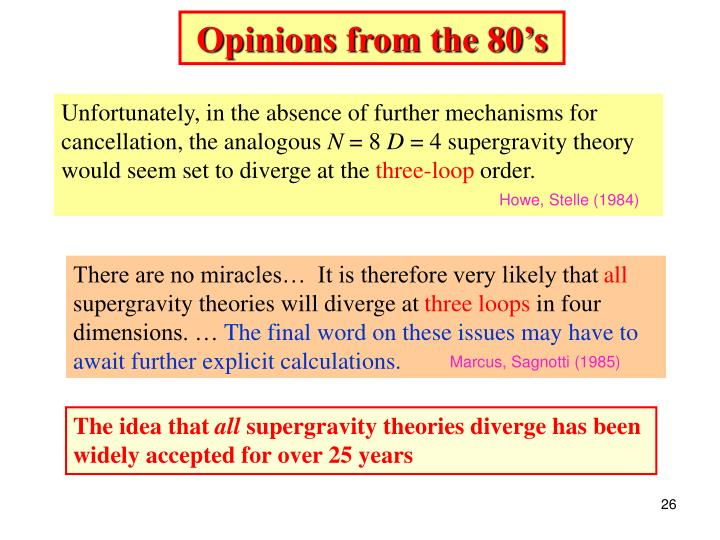 Opinions from the 80's