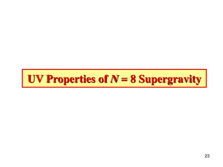 UV Properties of