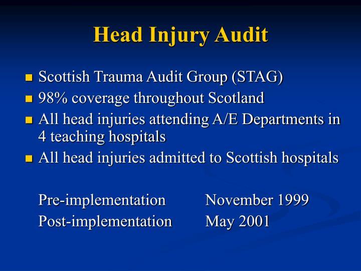 Head Injury Audit