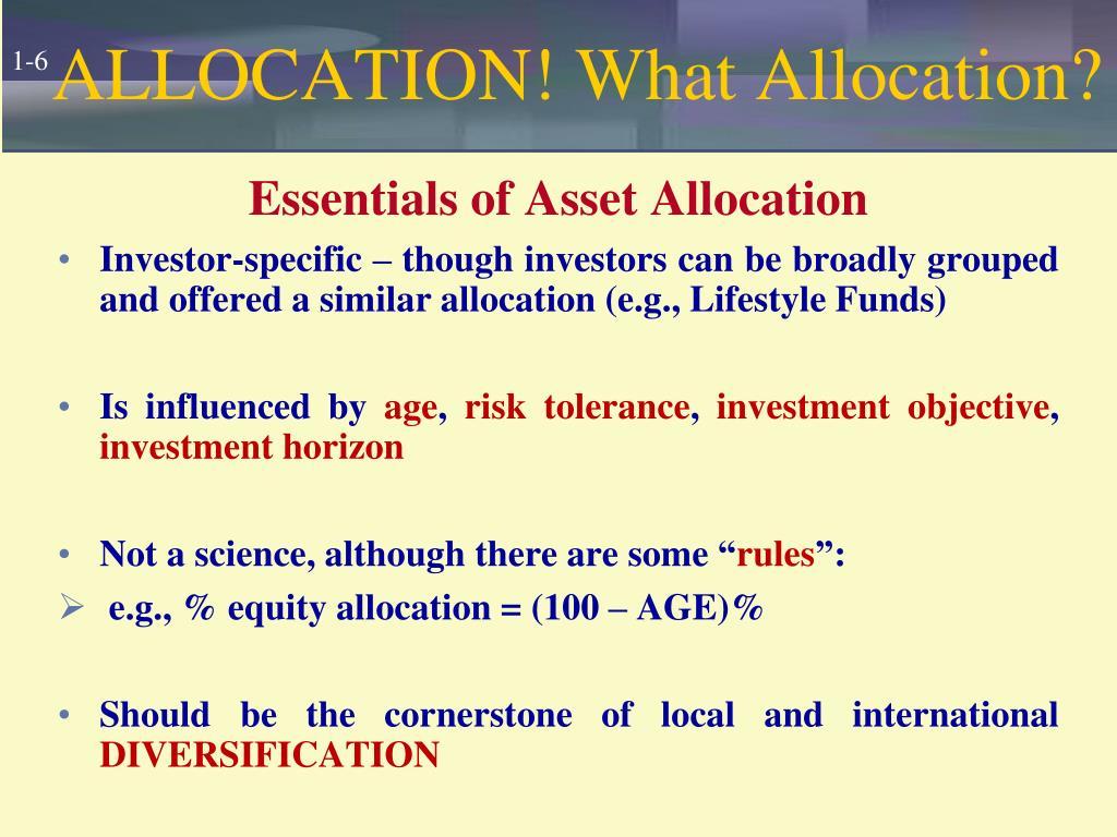 ALLOCATION! What Allocation?