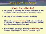doing the two steps
