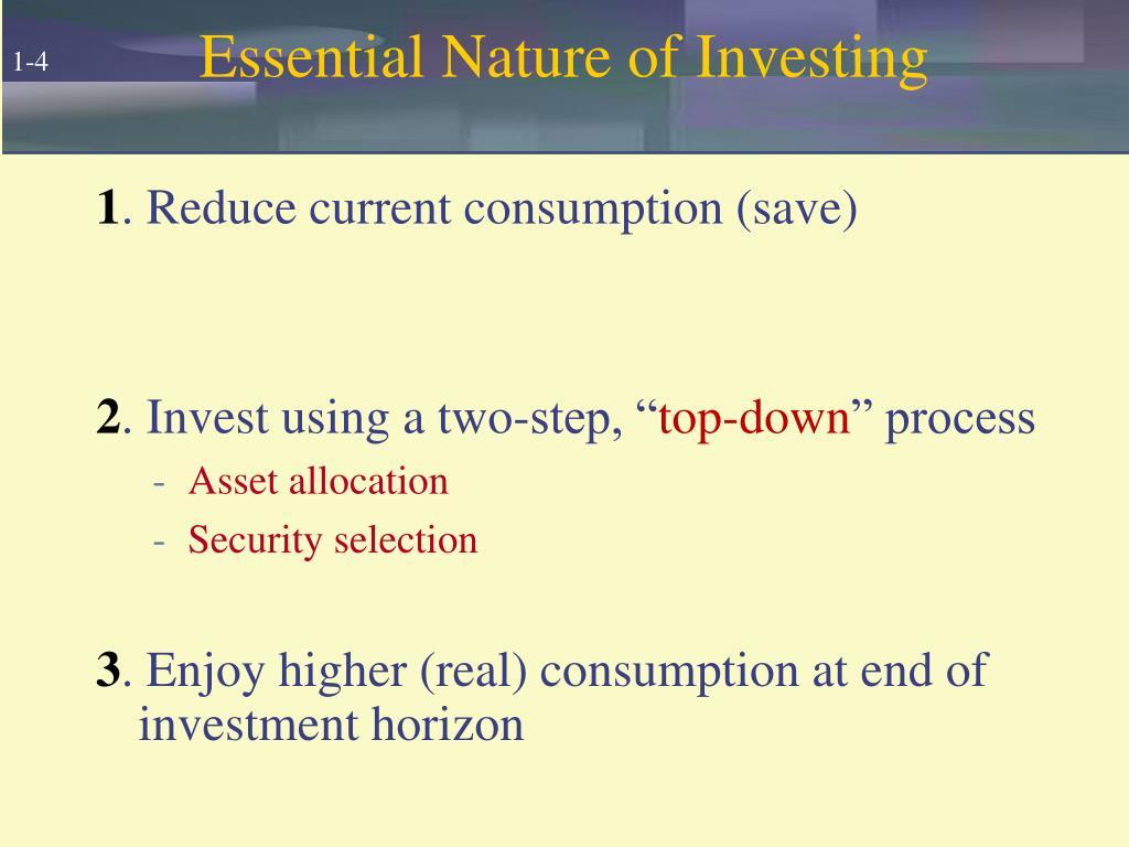 Essential Nature of Investing