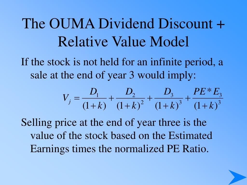 The OUMA Dividend Discount + Relative Value Model