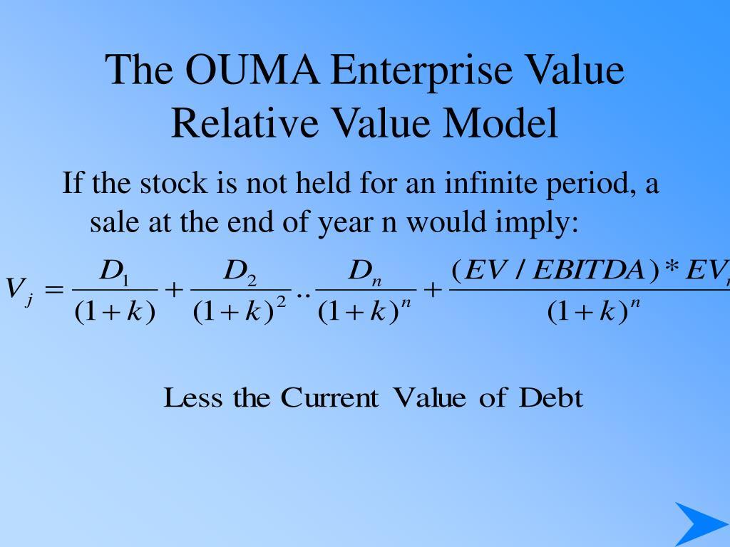 The OUMA Enterprise Value  Relative Value Model