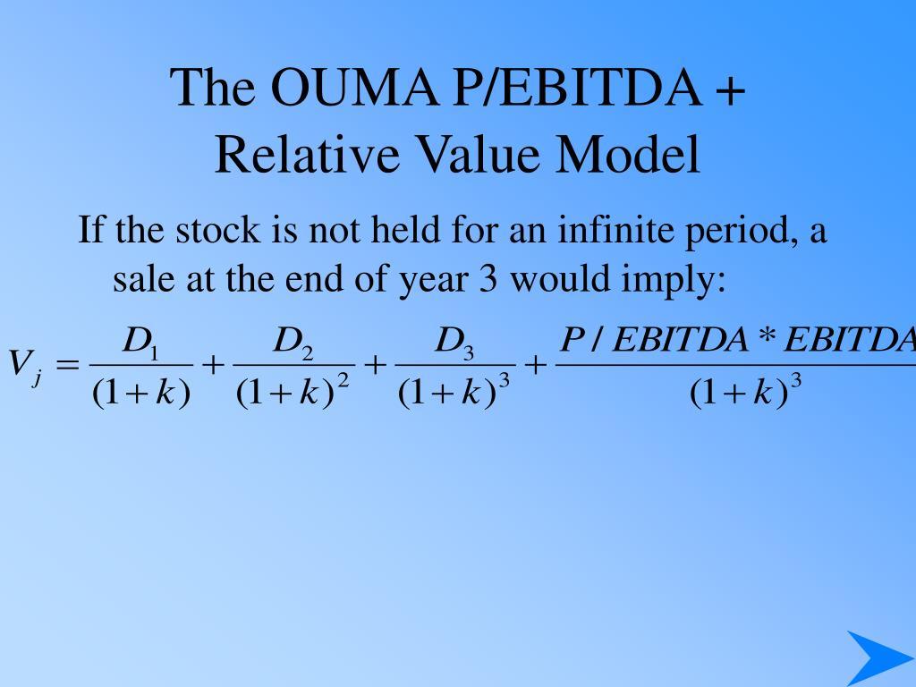 The OUMA P/EBITDA + Relative Value Model
