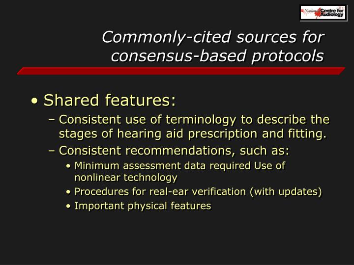 Commonly-cited sources for consensus-based protocols