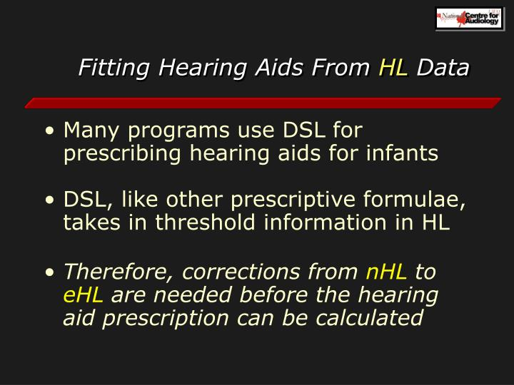 Fitting Hearing Aids From