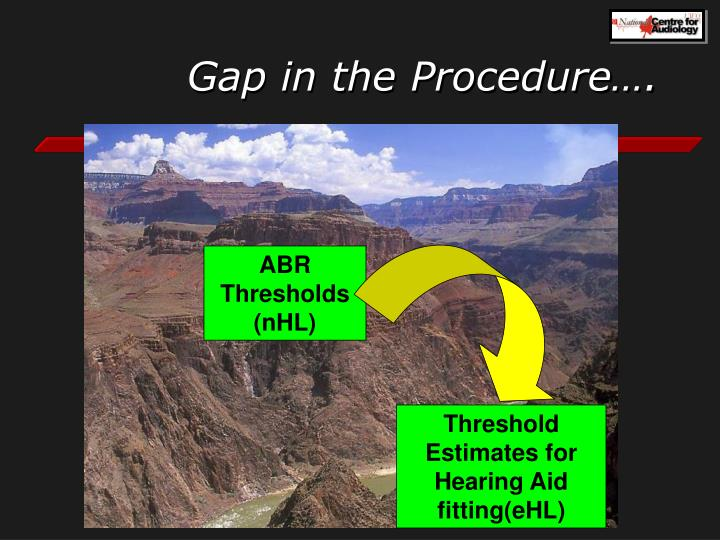 Gap in the Procedure….