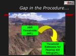 gap in the procedure