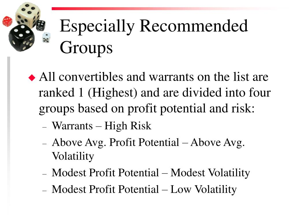 Especially Recommended Groups