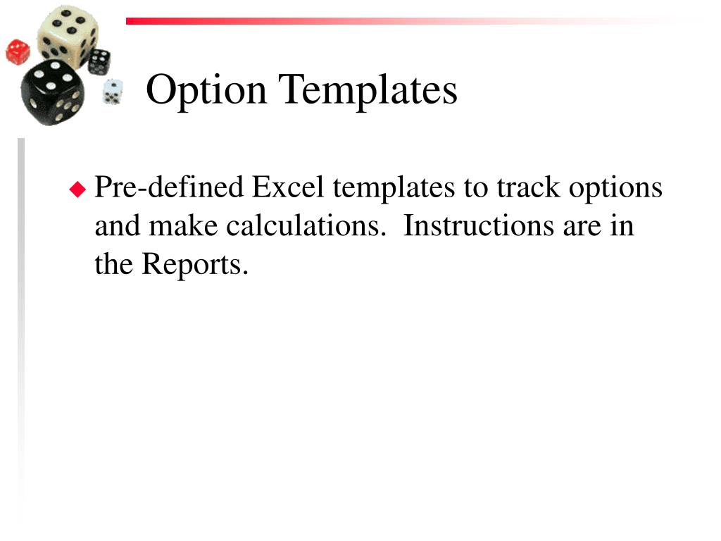 Option Templates