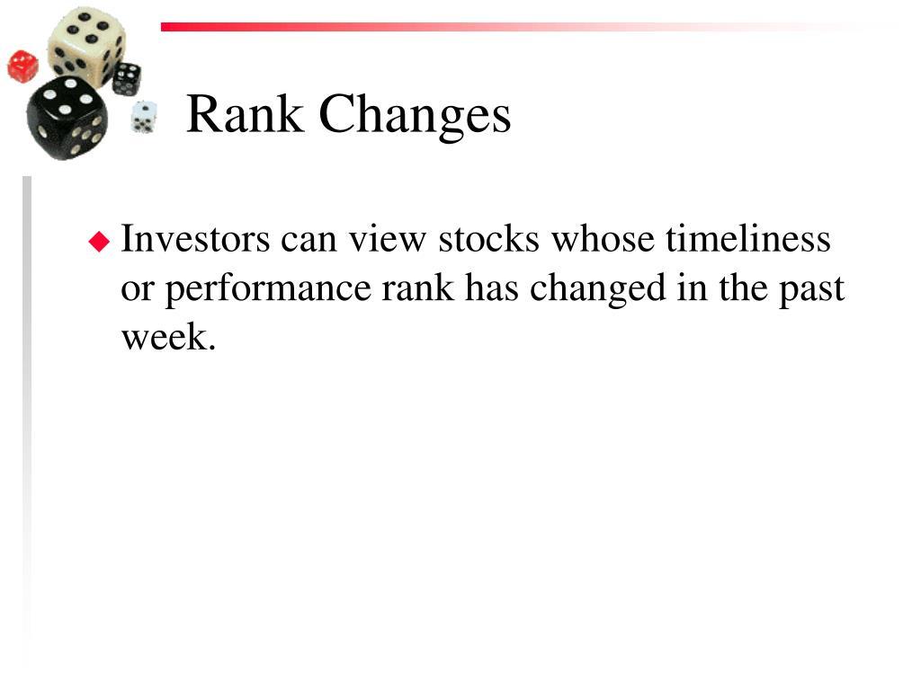 Rank Changes
