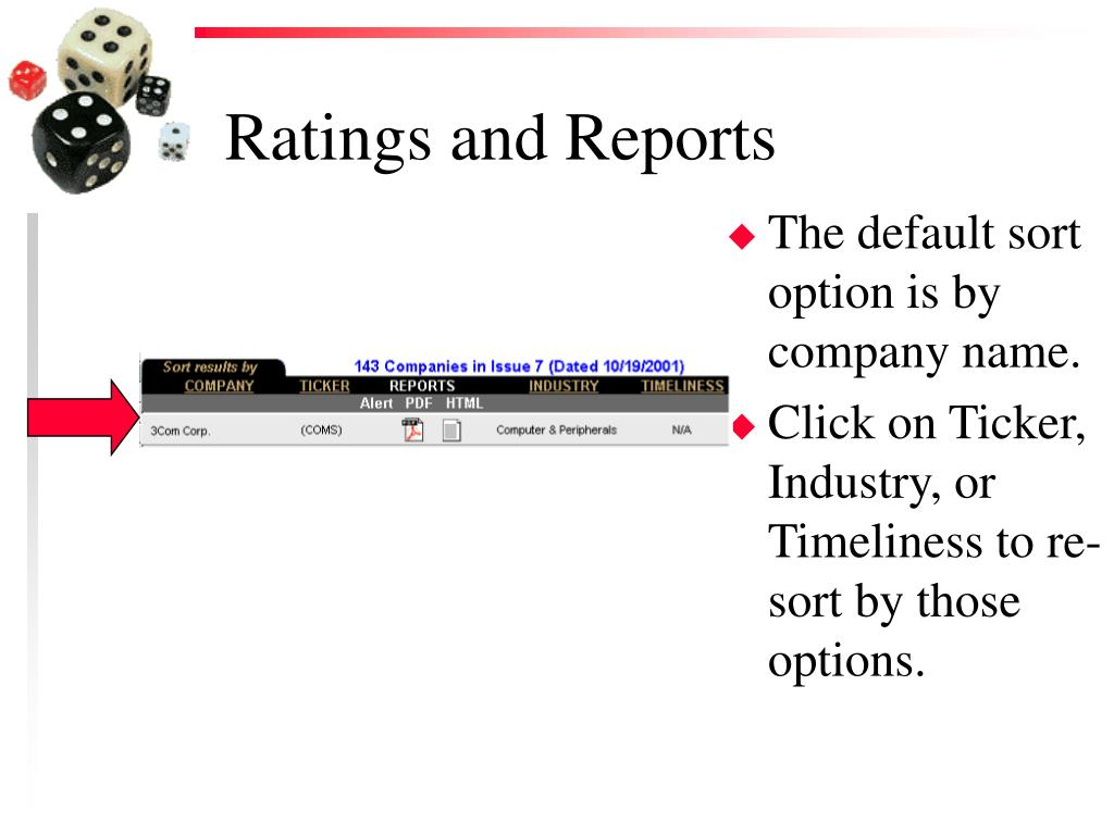 Ratings and Reports