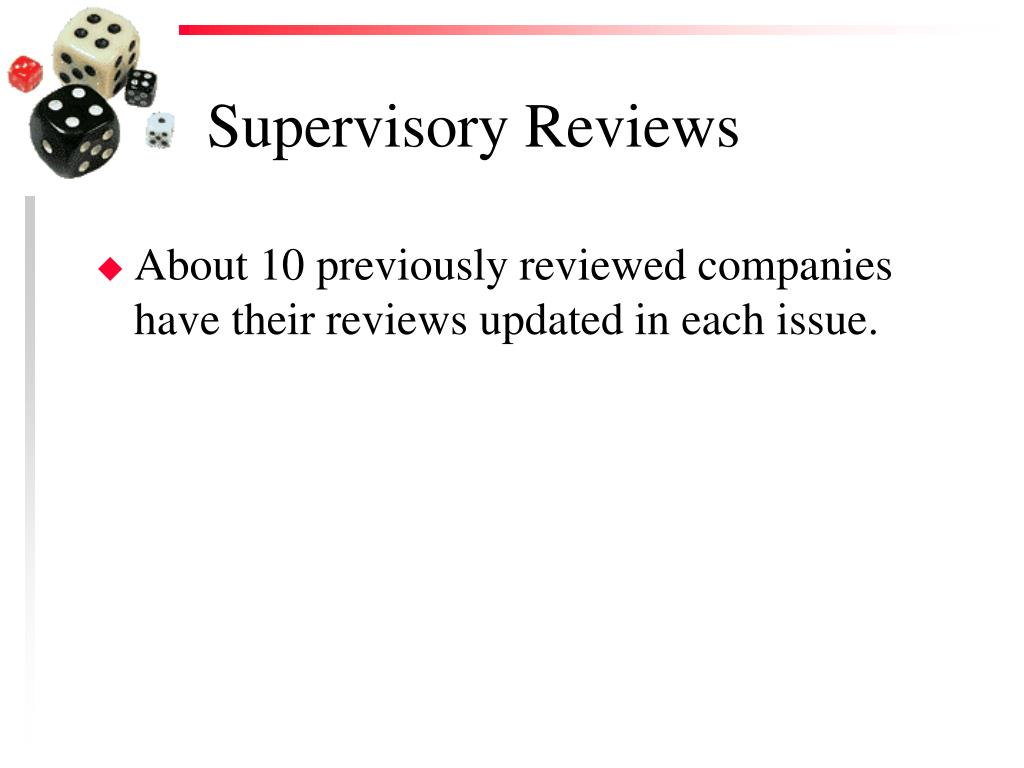 Supervisory Reviews
