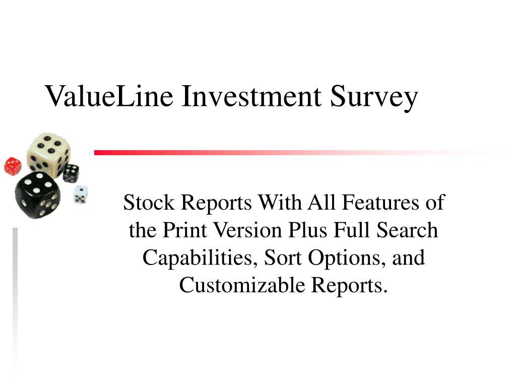 ValueLine Investment Survey