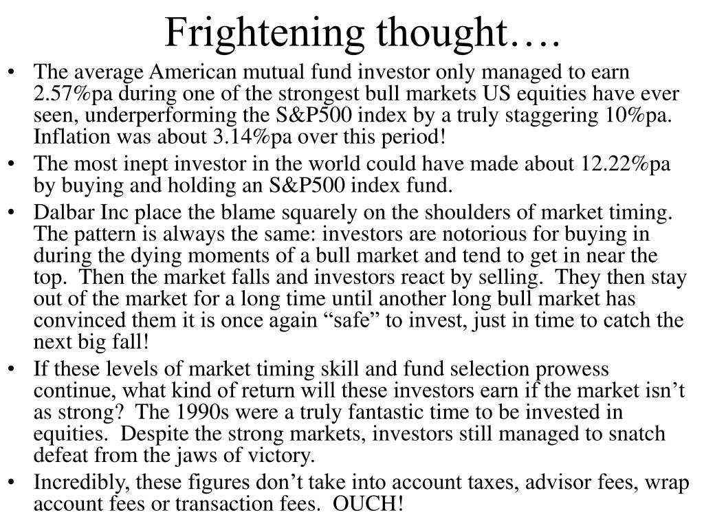 Frightening thought….