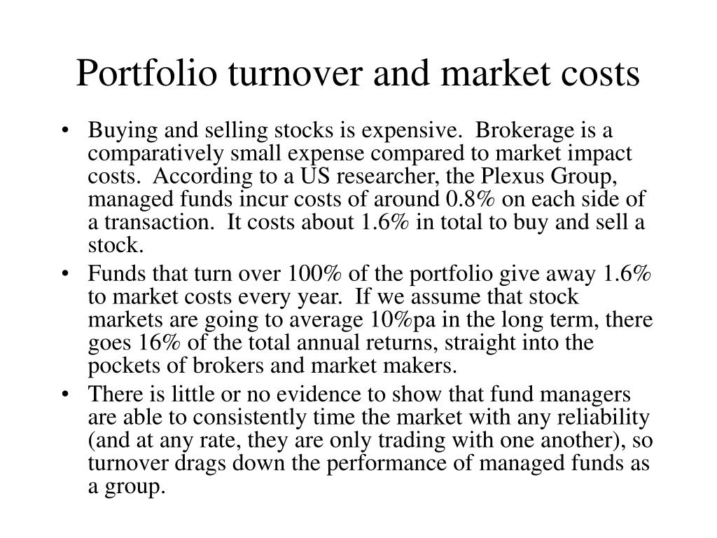 Portfolio turnover and market costs