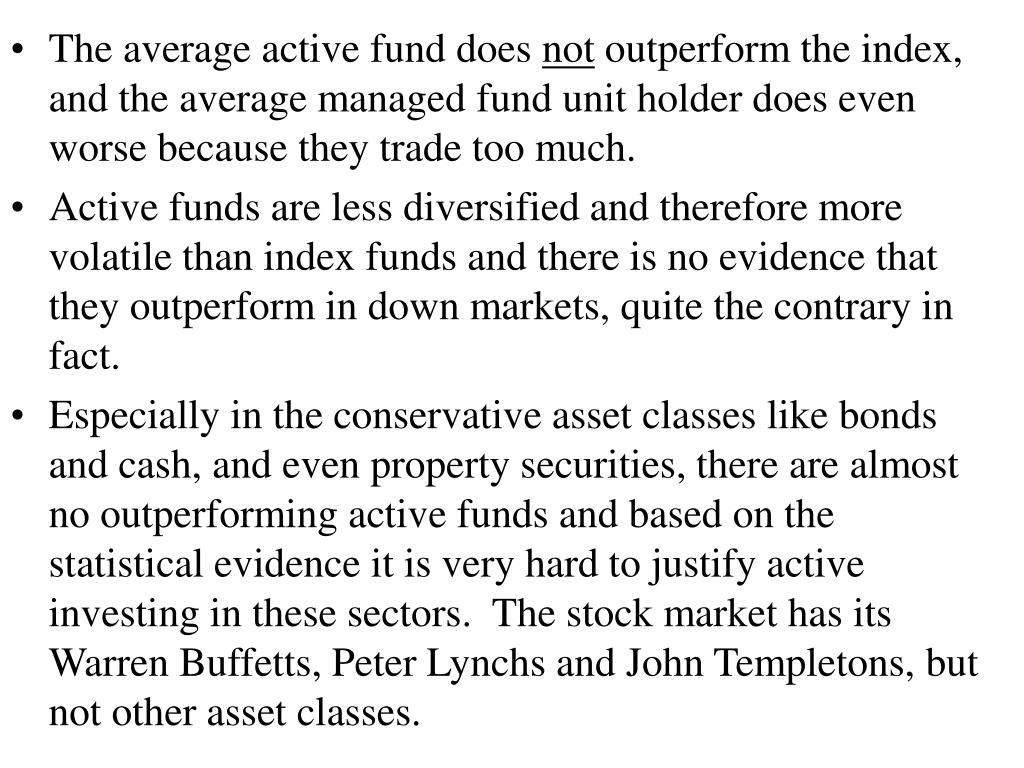 The average active fund does
