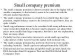 small company premium