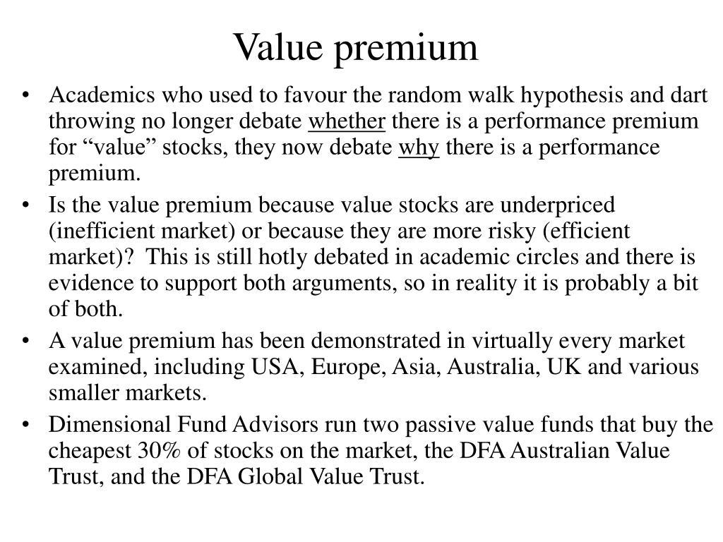 Value premium