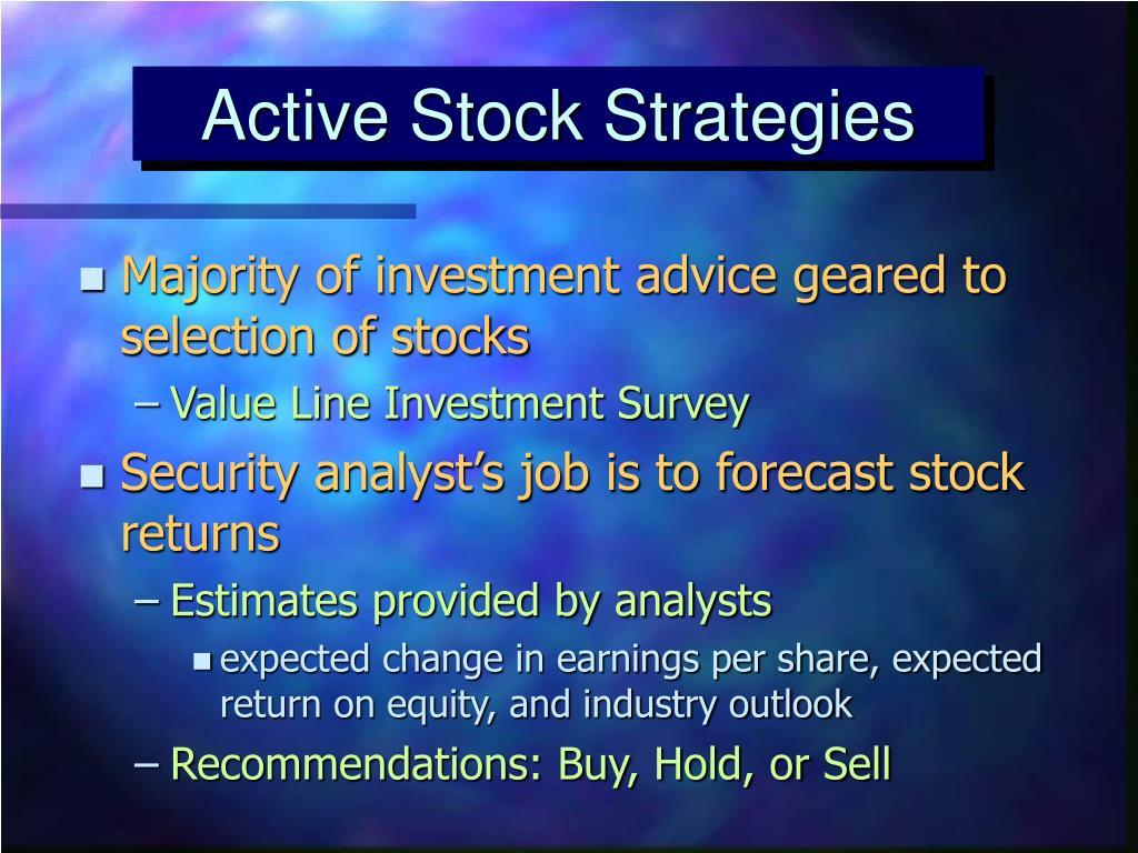 Active Stock Strategies