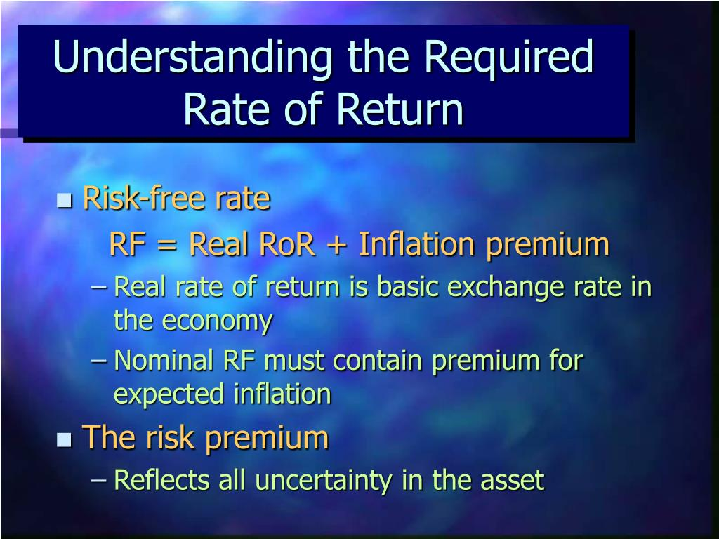 Understanding the Required Rate of Return