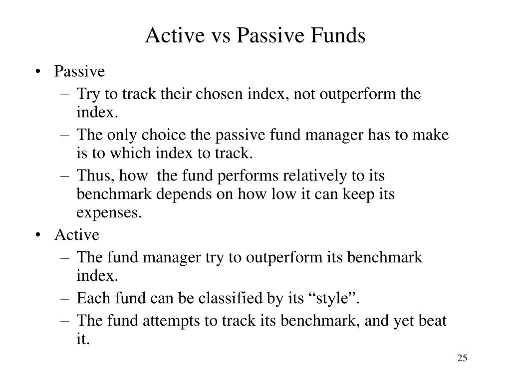 Active vs Passive Funds
