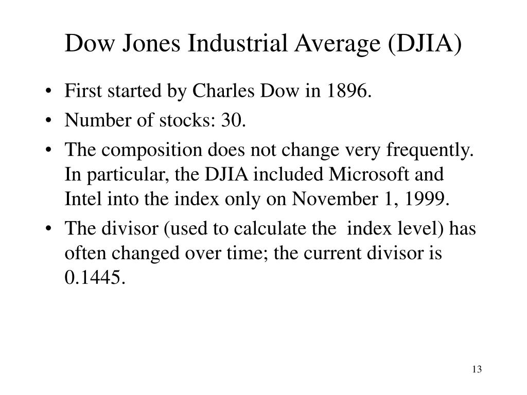Dow Jones Industrial Average (DJIA)