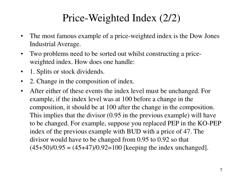 Price-Weighted Index (2/2)