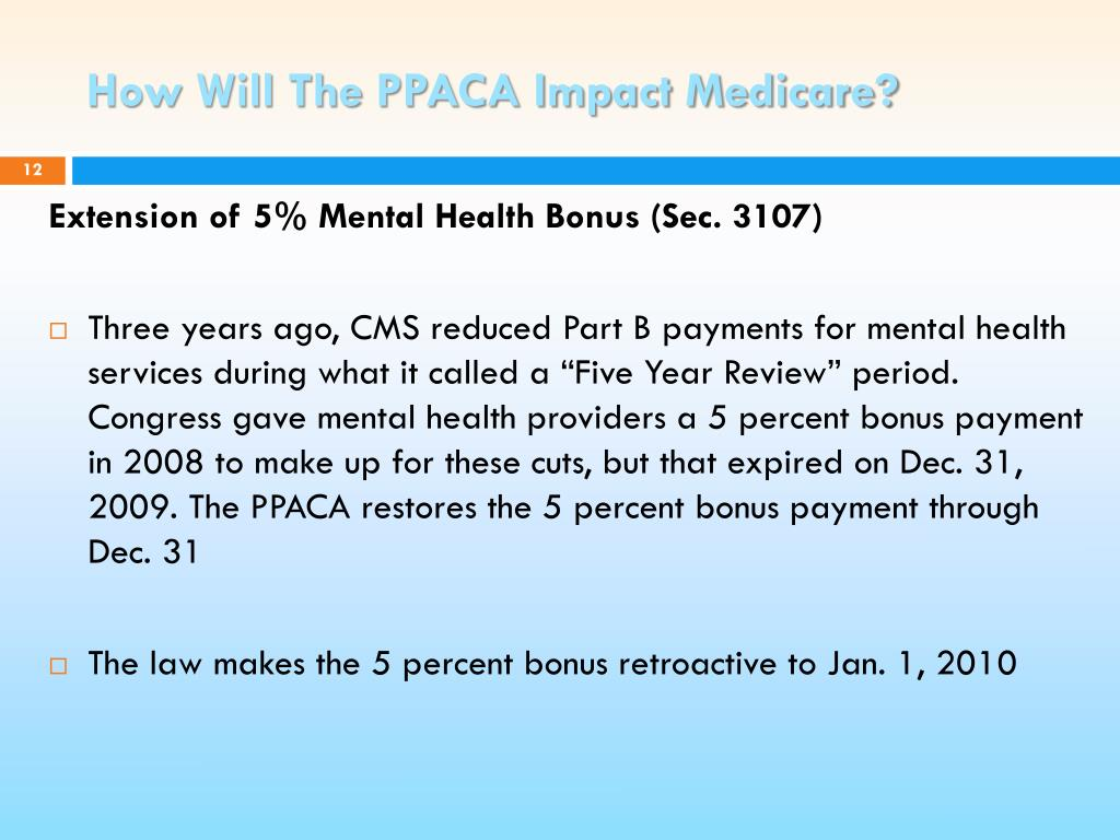 How Will The PPACA Impact Medicare?