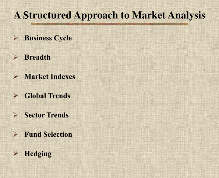 A structured approach to market analysis
