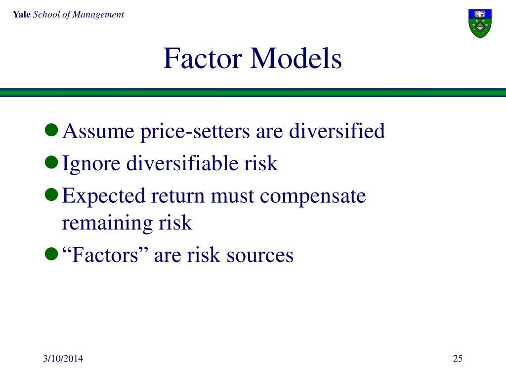Factor Models