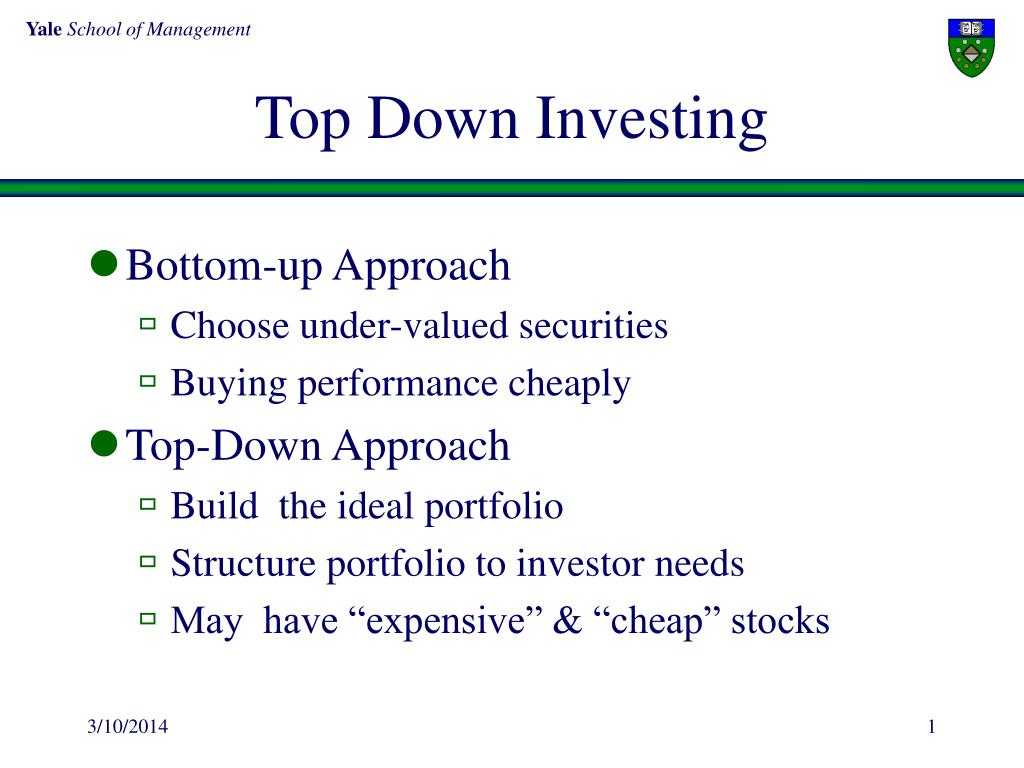 Top Down Investing