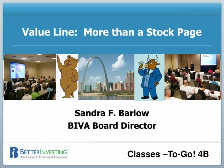 Value line more than a stock page